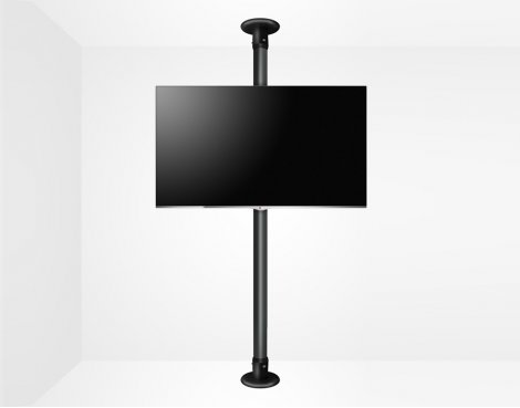 "B-Tech Floor To Ceiling Mount For Up 55"" 3m Pole - Black"