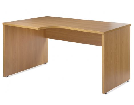 Eco Left 1380 Home Office Workstation in Beech