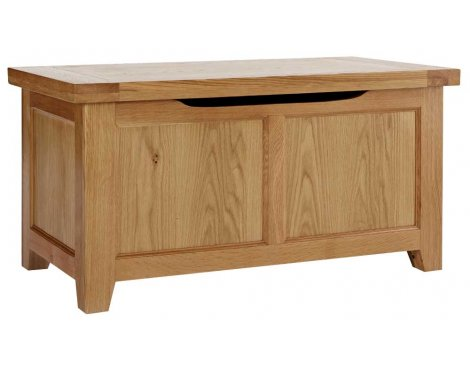 Rustic Grange Devon Oak Blanket Box