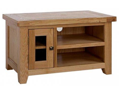Rustic Grange Devon Oak Small TV Stand