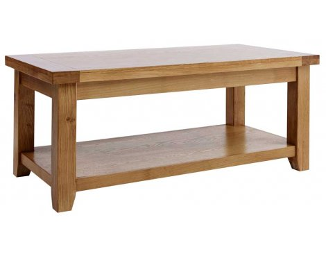 Rustic Grange Devon Oak Large Coffee Table