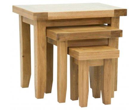 Rustic Grange Devon Oak Nest of Tables
