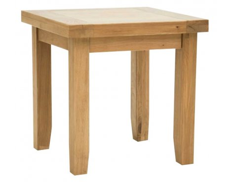 Rustic Grange Devon Oak Lamp Table
