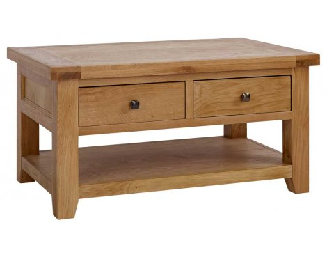 Rustic Grange Devon Oak Coffee Table