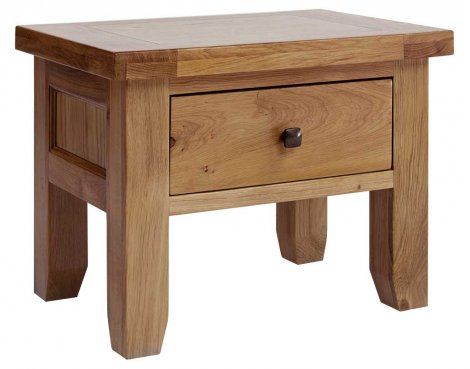 Rustic Grange Devon Oak 1 Drawer Lamp Table