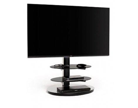 Techlink Solo Evo Black & Silver Cantilever TV Stand