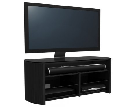 Alphason Finewoods FW1350SB-B Black Cantilever TV Stand with Soundbar Shelf