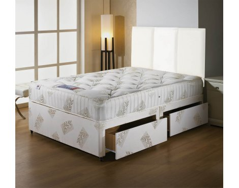 Luxan Orthomedic Small Double Size Bed Set - No Headboard - 2 Drawers