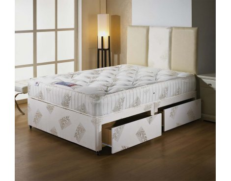Luxan Orthomedic Double Size Bed Set - With Headboard - 2 Drawers