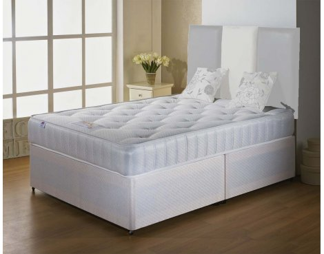 Luxan Classic King Size Bed Set - No Headboard - 2 Drawers