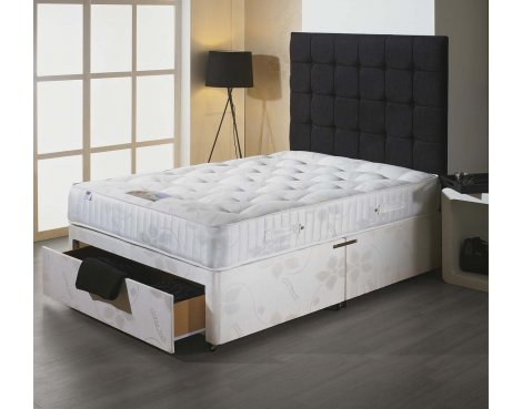 Luxan Stress Free Small Double Size Bed Set - With Headboard - 2 Drawers
