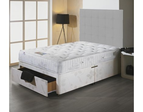 Luxan Stress Free Double Size Bed Set - No Headboard - 4 Drawers