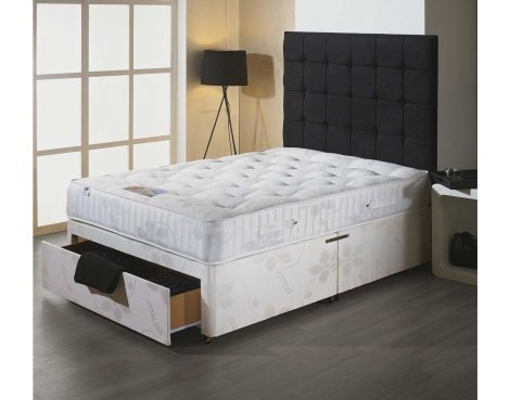 Luxan Stress Free King Size Bed Set - With Headboard - 2 Drawers