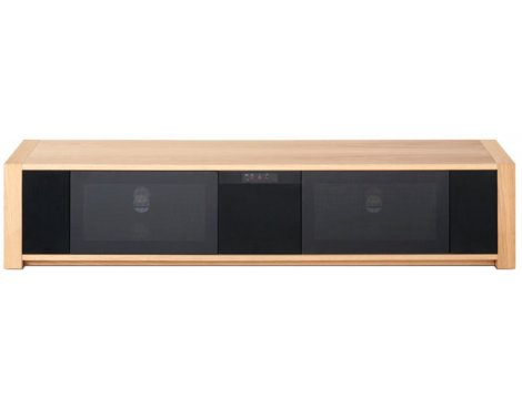 "Techlink Modular M1SLO Screens up to 84"" - Oak/Black"
