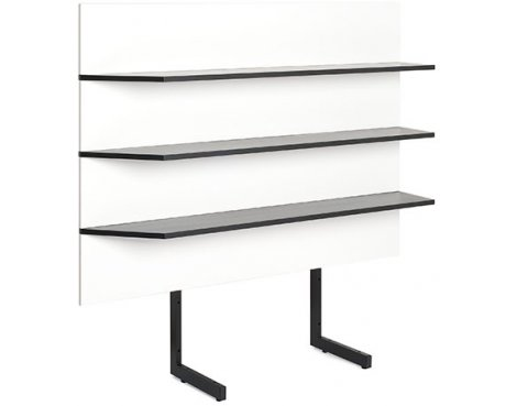Techlink Modular M4WT Shelving Unit - White/Black