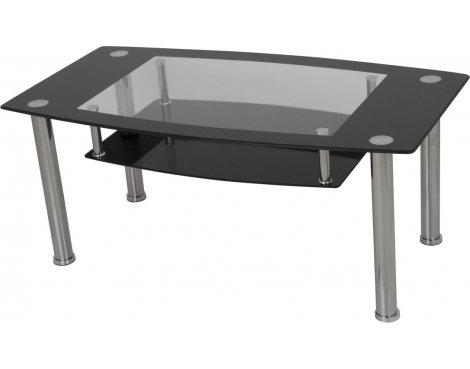 AVF T12 Glass Coffee Table - Black