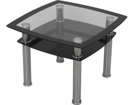 AVF T22 Glass Lamp Table - Black