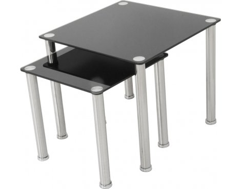AVF T32 Glass 2 Nesting Tables - Black