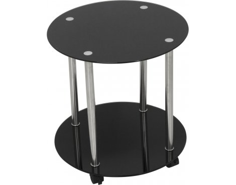 AVF T62 Wheeled Occasional Table - Black