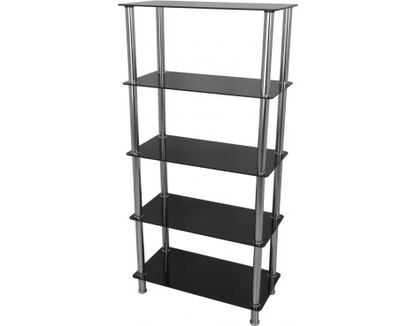 AVF S25 Tall 5 Shelf - Black