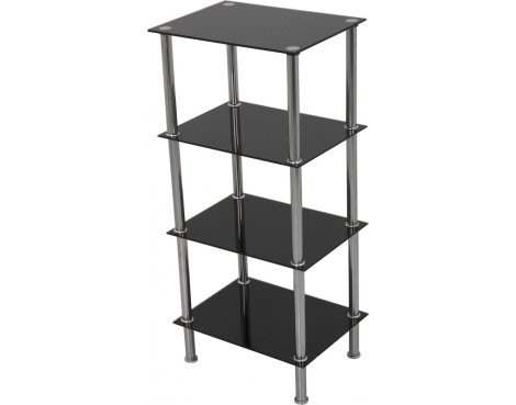 AVF S44 Small 4 Shelf - Black
