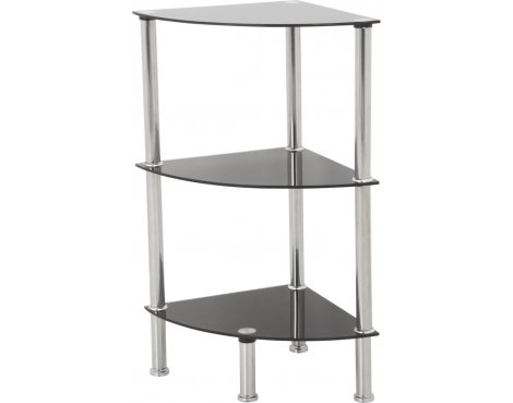 AVF S53 3 Shelf Corner Unit - Black