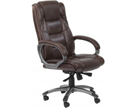 Alphason Northland High Back \'Soft Feel\' Leather Executive Chair - Brown