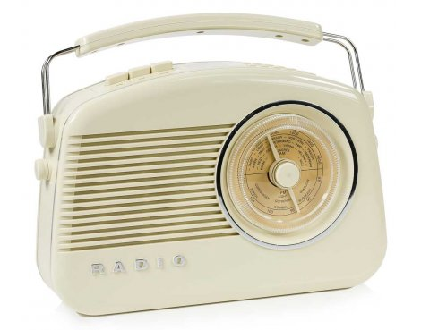 Konig DAB+ Retro Radio in Beige