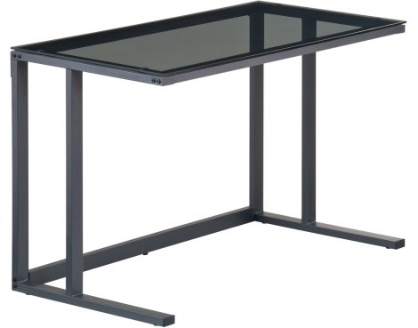 Alphason Air Black Framed and Smoked Glass Desk