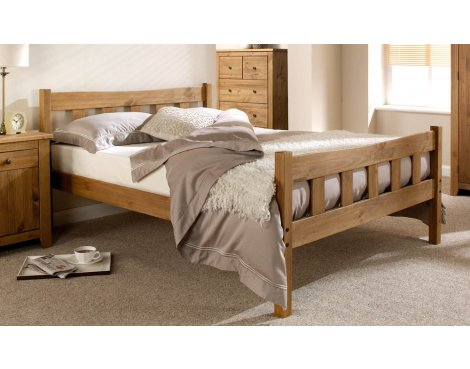 ValuFurniture Hand Made Solid Wood Shaker Style Bed Frame - Double 4ft6