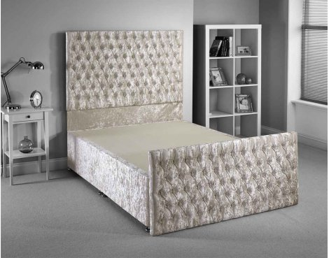 Luxan Provincial Bed Frame - Cream - King 5ft - 2 Drawers