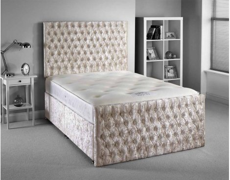 Luxan Provincial Bed Set - Cream - Small Single 2ft6 - 2 Drawers