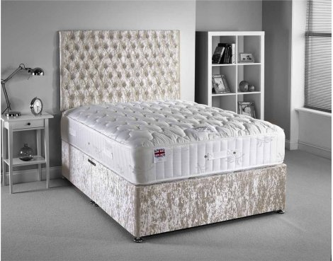 Luxan Provincial Bed Set - Cream - Double 4ft6 - 2 Drawers