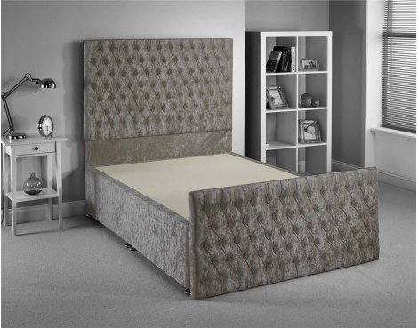 Luxan Provincial Bed Frame - Silver - Double 4ft6 - 2 Drawers