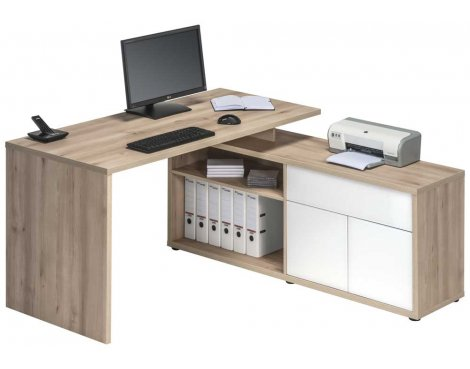 Maja 4020 Natural Beech Computer Desk
