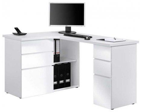 Maja 9543 White Corner Computer Desk