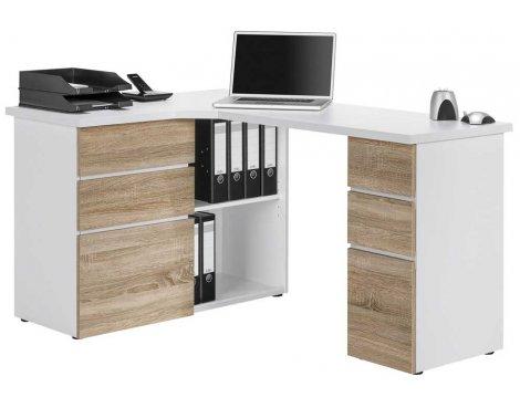 Maja 9543 Sonoma Oak Corner Computer Desk