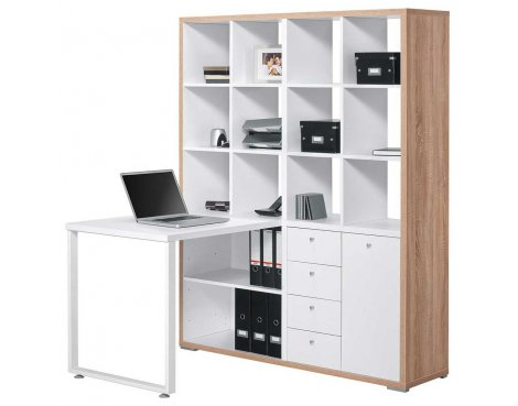 Maja 9560 Sonoma Oak & White Mini Office