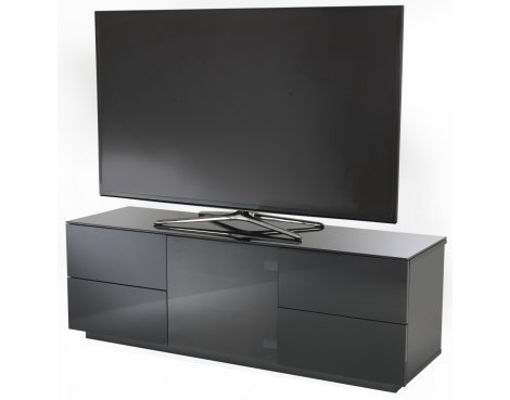 UK-CF Ultimate London Black High Gloss Black Cabinet For TVs up to 60""