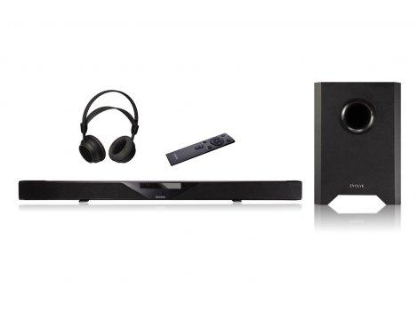 Evolve Audio SB-2501 Soundbar System with Wireless Subwoofer & Heaphones