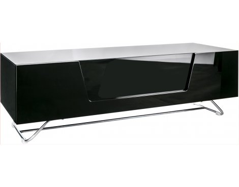 "Alphason Chromium Black TV Stand for up to 60"" TVs"