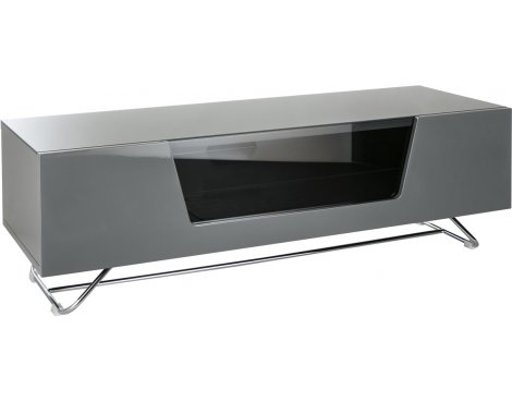 "Alphason Chromium Grey TV Stand for up to 60"" TVs"