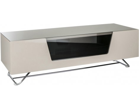 "Alphason Chromium Ivory TV Stand for up to 60"" TVs"