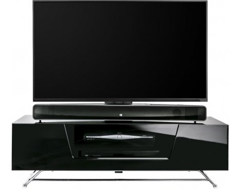 "Alphason Chromium Black Cantilever TV Stand for up to 50"" TVs"