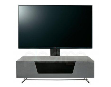 "Alphason Chromium Grey Cantilever TV Stand for up to 50"" TVs"