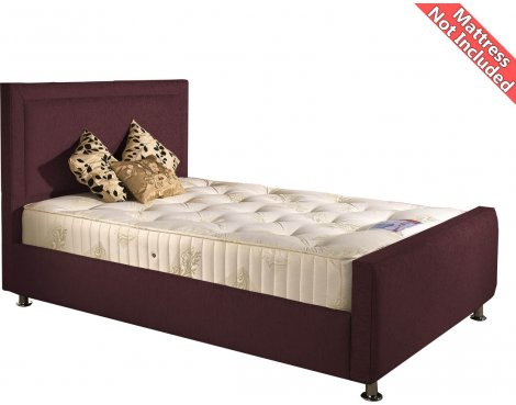 Valufurniture Calverton Bed Frame - Aubergine - Small Double 4ft