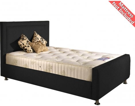 Valufurniture Calverton Bed Frame - Black - Small Double 4ft