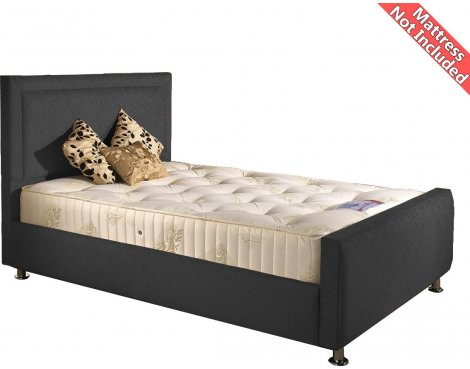 Valufurniture Calverton Bed Frame - Charcoal - Small Double 4ft