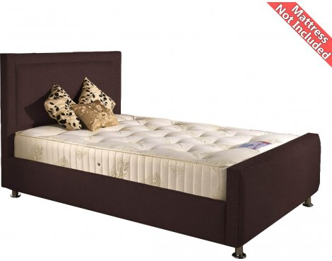 Valufurniture Calverton Bed Frame - Chocolate - Small Single 2ft6