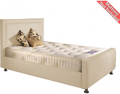 Valufurniture Calverton Bed Frame - Cream - Small Double 4ft